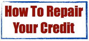 How to repair your credit image