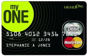 Higher One Debit Card Image