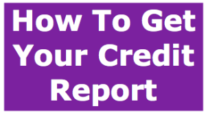 How to get your credit report image