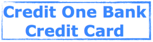 Credit One Bank Credit Card Image