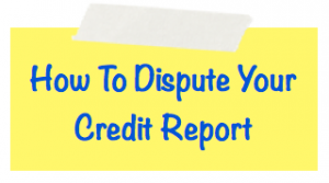 How to dispute credit report image