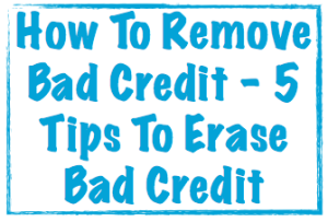 How to remove bad credit image