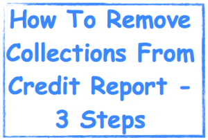 Remove collections from credit report image