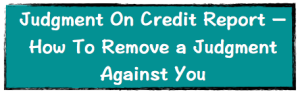Judgment on credit report image