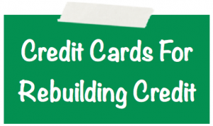 Credit Cards For Rebuilding Credit Image