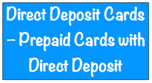 Direct Deposit Cards Image