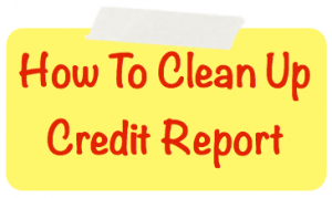 How to clean up credit report image
