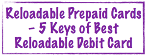 Reloadable prepaid cards image