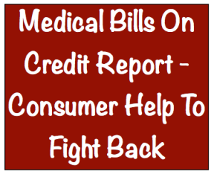 Medical bills on credit report image