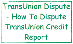 Transunion dispute form by mail