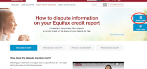 Equifax Dispute Image Two