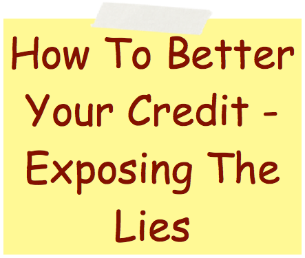 How To Better Your Credit Image